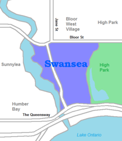 Swansea neighbourhood map