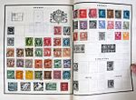 Swedish postage stamps on album pages.jpg