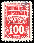 Switzerland Rorschach 1909 revenue 100c - 10.jpg