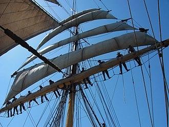 Sydney Heritage Fleet - James Craig at sea under sail in May 2012