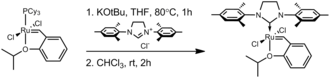 Grubbs' catalyst - Preparation of the Hoveyda–Grubbs catalyst from the first-generation version