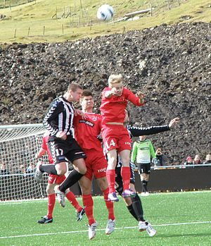 Ítróttarfelag Fuglafjarðar - ÍF Fuglafjørður vs. TB Tvøroyri on 29 April 2012 on TB's new stadium Við Stórá.