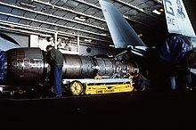 Pratt & Whitney Aircraft TF30 Turbofan Jet Engine cutaway poster 1960s