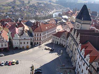 Tábor Town in Czech Republic