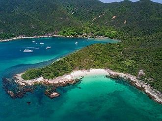 High Island, Hong Kong - Tai She Wan, on the western coast of High Island
