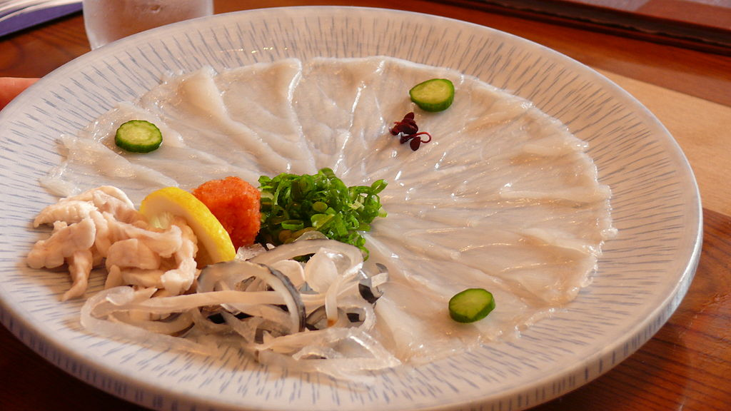 Takifugu on.the plate