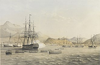 Capture of Chusan - Taking of the island by the British