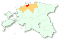 Location of Tallinn municipality in Estonia