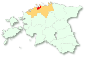 Vị trí của Tallinn tại Estonia