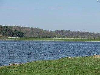 Franklin Township, Harrison County, Ohio - Dam at Tappan Lake