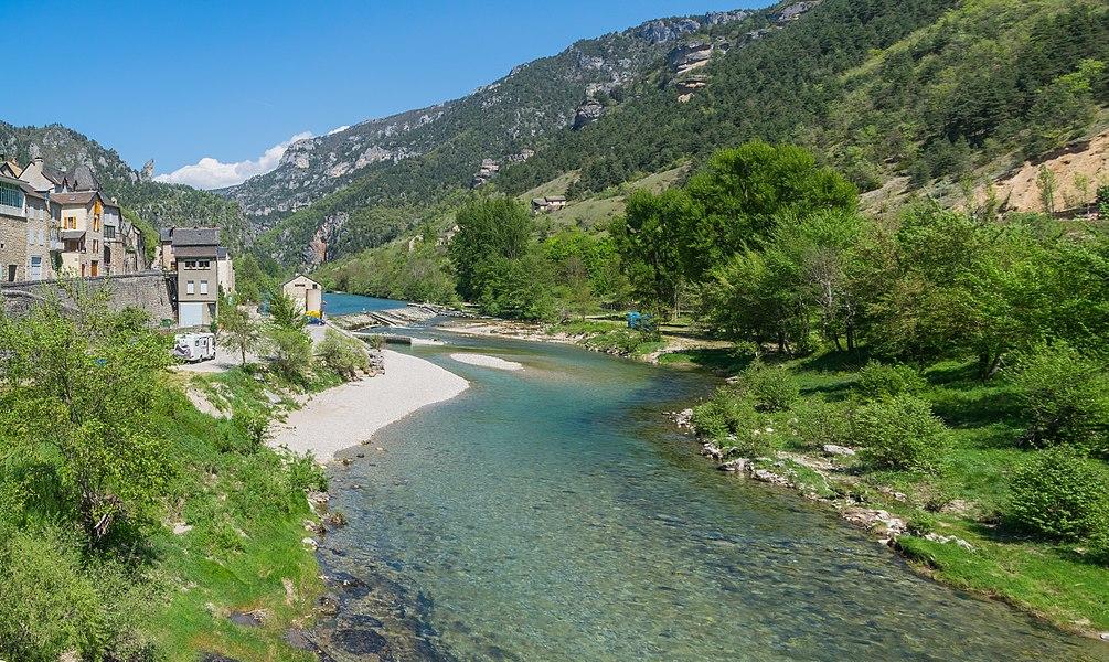 Tarn River in Les Vignes, Lozère, France