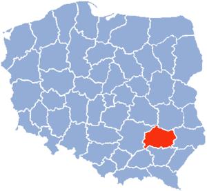 Tarnobrzeg Voivodeship - Image: Tarnobrzeg Voivodship 1975