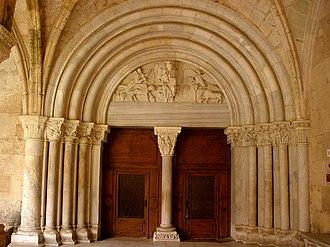 Trumeau (architecture) - Image: Tarragona Catedral, claustro 39