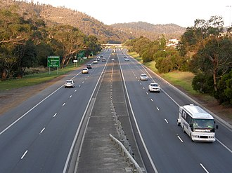 Highways in Australia - The Tasman Highway in Tasmania.