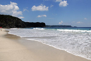 Shimoda, Shizuoka - Tatadohama Beach is a sandy beach with the length of approx. 400 meters  situated on the south coast of Izu peninsula.