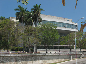 Plaza de la Revolución - Image: Teatro Nacional de Cuba
