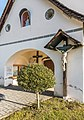 Techelsberg Sankt Martin Pfarrkirche hl. Martin Vorhalle Kruzifix 08122019 7654.jpg