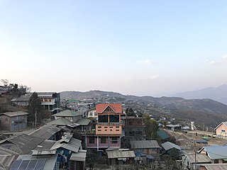 Tedim Town in Chin State, Myanmar