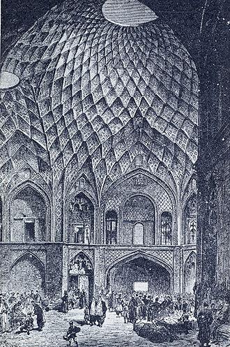 Bazaar - Timcheh Amin-o-Dowleh, Kashan Bazaar, Iran, c. 1800