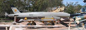 Ryan Firebee - The Teledyne Ryan Firebee UAV (reconnaissance variant, IDF designation Mabat) at Muzeyon Heyl ha-Avir, Hatzerim Airbase, Israel, 2006.