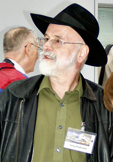 Pratchett at Worldcon 2005 in Glasgow, August 2005 Terry Pratchett 2005.JPG