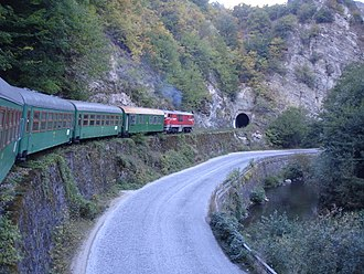 Septemvri–Dobrinishte narrow-gauge line - Approaching tunnel Nr 2