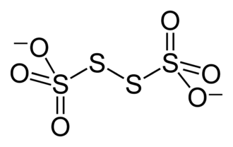 Tetrathionate - The structure of the tetrathionate anion