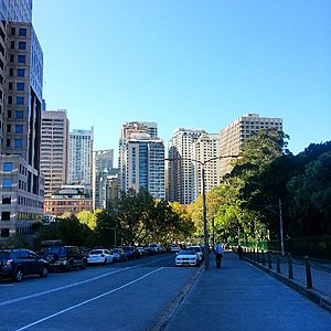 Thai Town, Sydney - The view north from near Central Station towards that section of the Sydney CBD known as Thai Town.