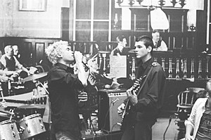 The Faith (American band) - Alec MacKaye and Michael Hampton of The Faith, The Chancery, Washington, D.C., 1982