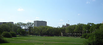 University of Saskatchewan - The Bowl, a green space on the University of Saskatchewan main campus, as seen today