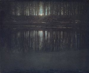 Edward Steichen - Steichen's The Pond—Moonlight, multiple gum bichromate print, 1904.