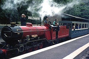Ravenglass and Eskdale Railway locomotives - Image: The 'River Mite' at Dalegarth geograph.org.uk 1053918
