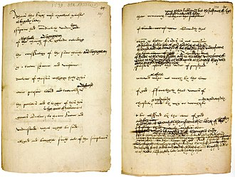 Thirty-nine Articles - One of the final drafts of the Six articles (1539), amended in King Henry VIII's own hand