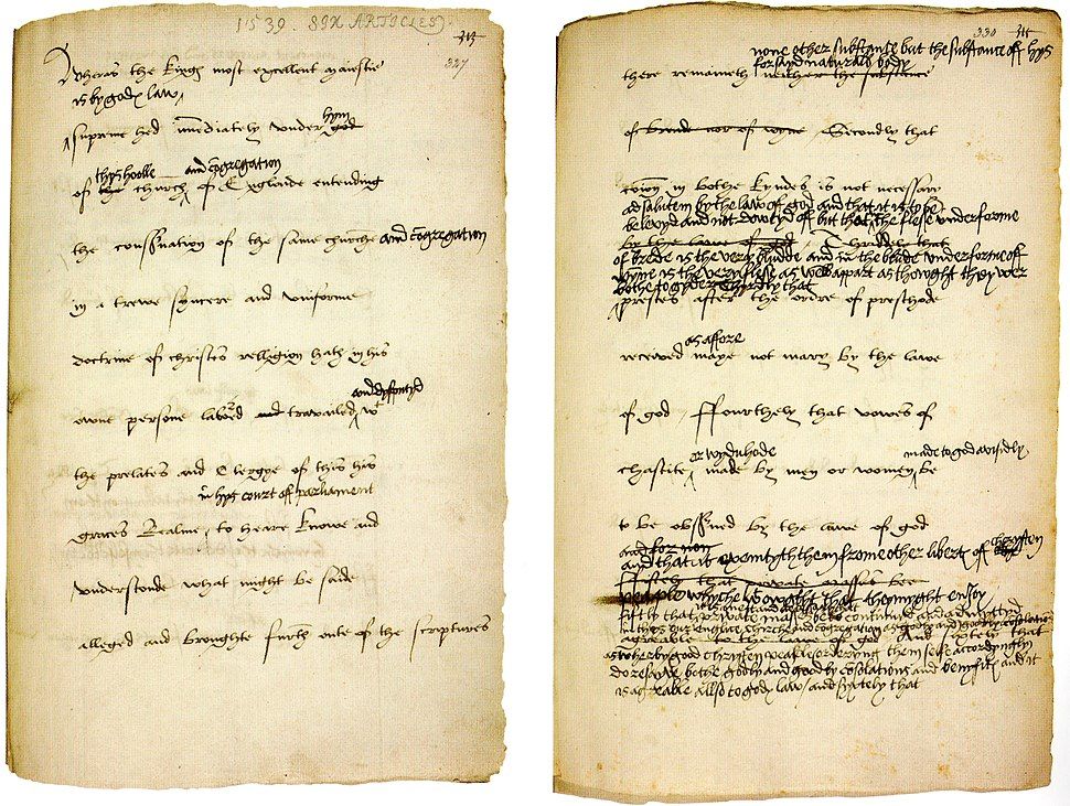 The Act of Six Articles 1539