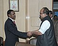 The Agriculture Minister of Ethiopia, Mr. Tafera Derbew calls on the Minister of State (Independent Charge) for Consumer Affairs, Food and Public Distribution, Professor K.V. Thomas, in New Delhi on February 01, 2011.jpg
