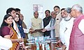 The All-Party delegation led by the Chief Minister of Haryana, Shri Manohar Lal Khattar calling on the Union Home Minister, Shri Rajnath Singh, regarding Satluj-Yamuna Link Canal issue, in New Delhi on March 24, 2017.jpg