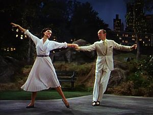 "The Band Wagon - Cyd Charisse and Fred Astaire in one of the film's highlights, ""Dancing in the Dark"""