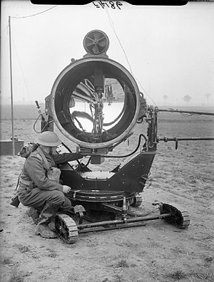 1st Searchlight Regiment, Royal Artillery - 90 cm Searchlight in France May 1940 (this example was operated by 10th S/L Bty, 3rd S/L Rgt)