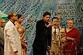 The Chief Guest and renowned actor Shahrukh Khan lighting the lamp at the inauguration of the 38th International Film Festival of India (IFFI-2007) at Panaji, Goa on November 23, 2007.jpg