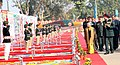 The Chief Minister of Delhi, Smt. Sheila Dikshit inspecting the flag area, during her visit to DG, NCC republic day camp-2012, in New Delhi on January 14, 2012. The DG, NCC, Lt. Gen. P.S. Bhalla is also seen.jpg