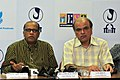 The Chief Minister of Goa, Shri Digambar Kamat briefing the media at the Curtain Raiser Press Conference on IFFI-2010, at the Media Center, Maquinez Palace, Panaji, in Goa on November 21, 2010.jpg