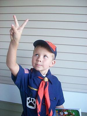 The Cub Scout Sign