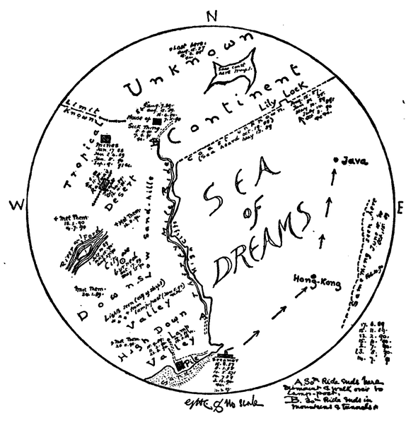 """File:The Days Work (1899)-pg 408.png Description English: Map on page 408 of """"The Day's work"""" Date1899 Sourcehttps://archive.org/details/dayswo00kipl AuthorRudyard Kipling"""