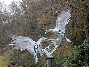 Walenty Pytel - The Diamond Jubilee sculpture (detail) in Rosebank Gardens, Great Malvern