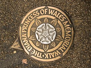 Diana, Princess of Wales Memorial Walk - Diana, Princess of Wales Memorial Walk marker.