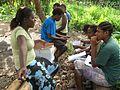 The Government of Vanuatu's Public Relations Officer conducting community consultations through Vanuatu Short Term Land Iniative support. Vanuatu 2010. Photo- AusAID (10729329606).jpg