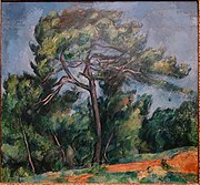The Great Pine by Paul Cezanne, 1890-1896, oil on canvas - Museu de Arte de São Paulo - DSC07139.jpg