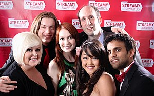 The cast of The Guild at the 2009 Streamy awards