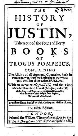 Historia Philippicae et Totius Mundi Origines et Terrae Situs - Title page of a 1688 edition
