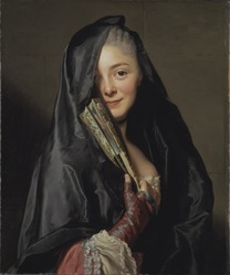 Alexander Roslin: The Lady with a Fan, The Artist's Wife